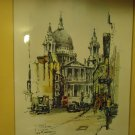 ST PAUL'S CATHERAL VINTAGE SIGNED PRINT BY JAN KORTHALS..STUNNING