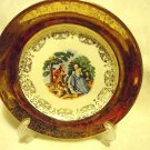 "ONE 6 1/2""DERWOOD PLATE W S GEORGE CREST O GOLD....22 KARAT...USA"
