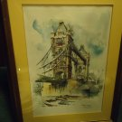 LONDON'S TOWER BRIDGE VINTAGE SIGNED PRINT BY JAN KORTHALS..STUNNING