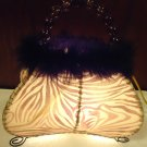 DECORATIVE NITE LIGHT OR ACCENT LIGHT SHAPED LIKE A PURSE WITH BEAD HANDLES