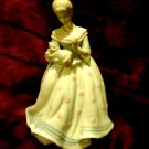 """7 1/2"""" PORCELAIN """"LADY WITH CAT"""" MUSIC BOX...BEAUTIFUL....MADE IN TAIWAN"""