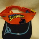 COLORFUL SUPERMAN VISOR.....NEW WITH TAGS....VELCO BACKING FOR SIZING