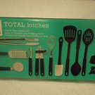 20 PIECE KITCHEN SET BY GIBSON..SPATULAS, TONGS, PEELER, ETC...NEW IN BOX..NICE