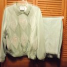 LADIES 2 PIECE PANTS/TOP..LIGHT GREEN BY ALFRED DUNNER...L(18)...VERY NICE
