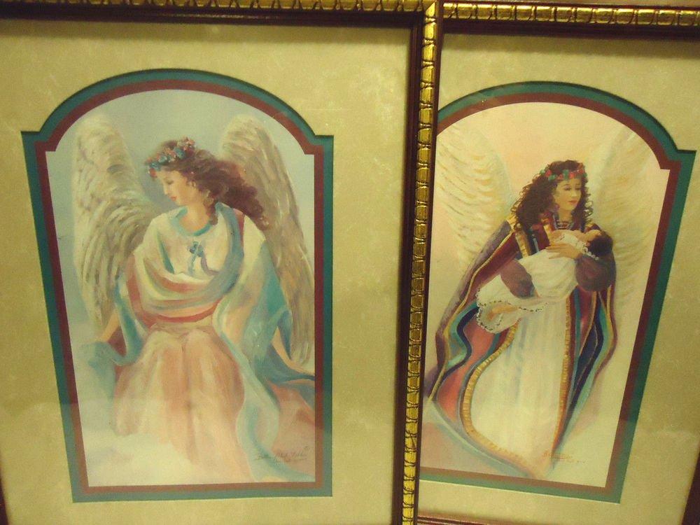 PAIR OF BETTIE HERBERT FELDER 'THRU GOD'S GRACE' FRAMED ANGEL PICTURES