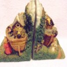 NOAH'S ARK DECORATIVE BOOKENDS....HEAVY.....GREAT DECOR...NICE COLOR & DETAILS