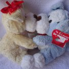 "LOVEABLE ""KISSIN"" DOGS .... APPROX  8"" TALL..SO SOFT AND CUDDLEY"