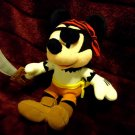 "DISNEY PLUSH  MICKEY MOUSE  PIRATE   STUFFED ANIMAL 10"" TALL...SO CUTE"