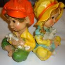 TWO VINTAGE 1974 ALICE & ANDY  STATUES BY UNIVERSAL STATURY...SO CUTE