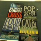 JAMES PATTERSON.....LOT 4 HARDCOVER BOOKS..GOOD CONDITION