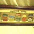 FRAMED BEANS VARIETY & DECOR FOR KITCHEN/DINING...BROWN WOOD FRAME....NICE