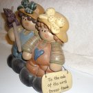 FOREVER FRIENDS CHARMING DECOR FIGURINES..MOLDED MATERIAL..SO CUTE!!!
