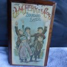 "COLLECTIBLE OLD ADVERTISING ON NICE WOODEN WALL HANGING..""DM FERRY SEEDS"""