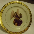 MUIRFIELD DECORATIVE ANGEL PLATE # 9408 CELEBRITY MADE IN SRI LANKA..PURPLE