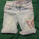 Arizona Jean Shorts Girls Size 8 Slim Butterfly Embroidered
