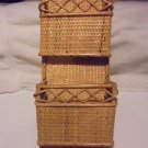 WICKER MAIL/LETTER HOLDER ORGANIZER...GREAT ACCENT....B-101