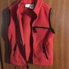 Kids TKS Basics Red Fleece Vest Size 5-6 Medium