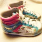 KIDS/GIRLS HIGH TOP SKECHERS PINK/BLUE WITH STARS...NICE....SIZE 1