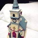 "LIGHTED CERAMIC ""CHURCH WITH STEEPLE""  FOR CHRISTMAS VILLAGE.....PRETTY...LOT#3"