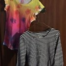 Lot Of 2 So Authentic American Heritage Girls Shirt, 7/8 Ball & White Stripe