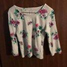 Floral Beautiful Girls size 7 8 shirts Faded Glory Girls super cute