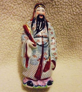 """CHINESE BEAUTIFULLY DETAILED  FIGURINE BY ANDREA SADAK/PORCELAIN... APPROX 7"""""""