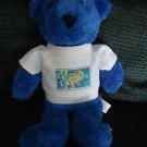 "BLUE BEAR WITH .37 STAMP ON CHEST BY WONDER BEAR...APPROX 9""..SO SOFT & CHARMING"