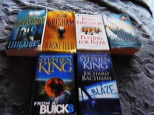 4 JOHN GRISSOM & 2 STEPHEN KING BOOKS.....PAPERBACKS
