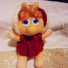 """PLUSH BABY MISS PIGGY AS LITTLE RED RIDING HOOD....1997...APPROX 11"""" TALL"""