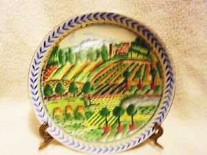 "HAND PAINTED DECORATIVE PLATE BY ANDREA BY SADEK...10""....DETAILED"