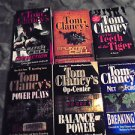SIX TOM CLANCY'S BOOKS....PAPERBACKS