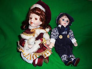 2004 CHRISTINA VERDI PORCELAIN DOLL WITH EXTRA MALE DOLL....SO CUTE