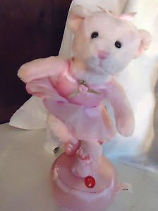 MUSICAL BEAR NAMED GISELLE BY RUSS...PINK BALLERINA PLAYS CLASSICAL ..ADORABLE