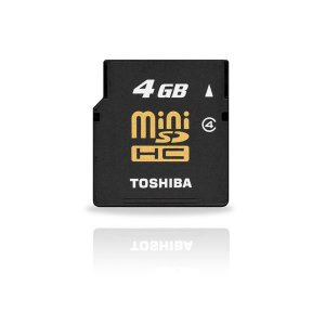 Toshiba 4GB miniSD Card (#SD10)