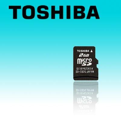 TOSHIBA 2GB microSD TransFlash Card (#SD12)