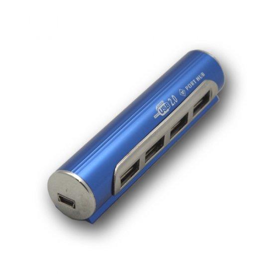 4 Port High Speed 480MBps Mini Pocket Size USB Hub (#HU56)