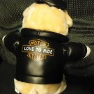 BIKER PIG WITH LEATHER JACKET BY NYTE'S COLLECTION...SO CUTE..APPROX 14""