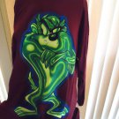 "LOONEY TUNES ""TAZ"" LONG SLEEVE MAROON SHIRT....SIZE LARGE....NICE"
