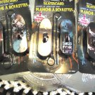 """3 PACK (6 TOTAL) RIP SKATEBOARDS.. 4"""" LONG..COOL GRAPHICS...ALL DIFFERENT"""