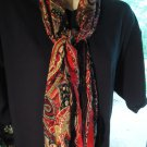 LADIES/GIRLS MAROON/MIXED  LONG SCARF....NICE SIZE