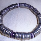 "LADIES/MENS SILVERTONE BRACELET WITH MAGNETIC CLOSING...7"" LONG"