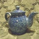 "BEAUTIFUL COBALT BLUE CERAMIC/STONEWARE TEA POT .APPROX 6 1/2"" TALL"