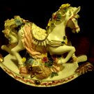 "ROCKY HORSE MUSIC BOX...SO COLORFUL & PRETTY....APPROX.....9"" WIDE  7"" HIGH"