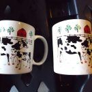 """SET OF TWO COFFEE CUPS..""""COWS ON A FARM""""...LARGE...FOR THE COLLECTOR"""