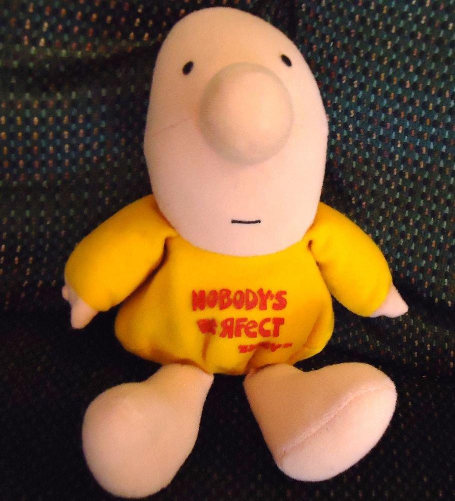 "EC TOM WILSON VINTAGE ZIGGY STUFFED BEANBAG Character 1981"" NOBODY'S PERFECT"""