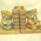 "PAIR OF VINTAGE PORCELAIN COLLECTABLE BOOKENDS...CUTE BEARS...ADORABLE-4"" TAL"