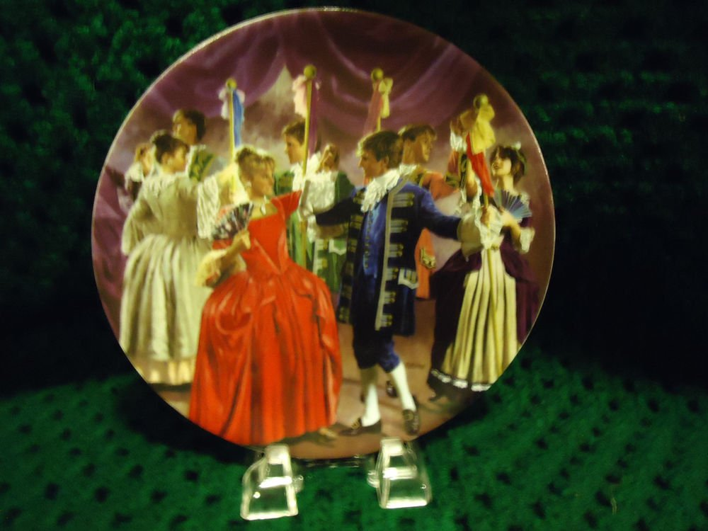 "GRIMMS TALE ""SHOES THAT WERE DANCED TO PIECES"" GERMAN PLATE/6TH IN SERIES/IN BOX"