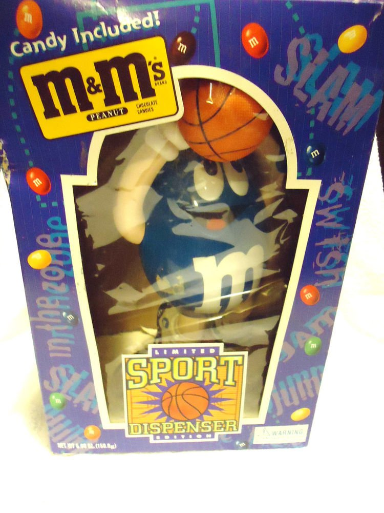 M & M Sport Basketball Dispenser In Box .....GOOD CONDITION...CANDY INCLUDED