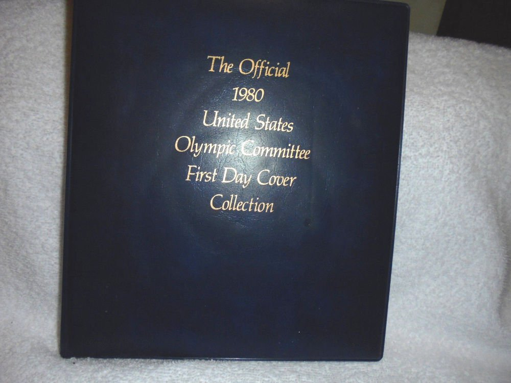 VERY RARE THE OFFICIAL 1980 US OLYMPIC COMMITTEE FIRST DAY COVER  COLLECTION