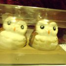 NEW BETTER HOMES AND GARDENS WOODLAND OWL SALT AND PEPPER SHAKERS